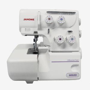 A máquina de costura OVERLOCK e ULTRALOCK da Janome 8002D